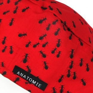 Gorros de Quirofano Tela Roja Hormigas ANA052