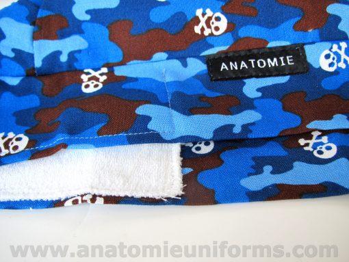 ANATOMIE BANDANA Chirurgiens Bleu Camouflage - 019