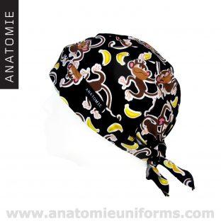 ANATOMIE BANDANA Sanitaire Singes Bananes - 015