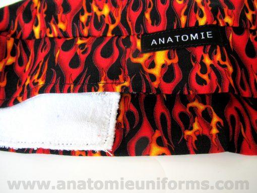 ANATOMIE BANDANA Surgeries Flames Fabric - 017c