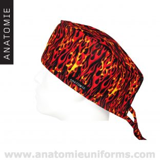 Calot Chirurgien Flamme Rouge Jaune ANA060