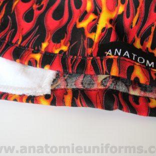 Calot Chirurgien Santé Flamme Rouge Jaune ANA060