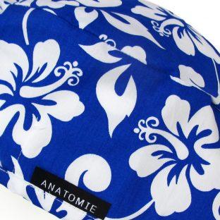 Gorros de Quirofano Hawaianos Azules ANA054