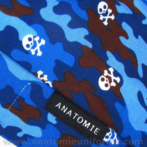 ANATOMIE BANDANA Chirurgie Bleu Camouflage - 019