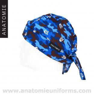 ANATOMIE BANDANA Chirurgien Bleu Camouflage - 019